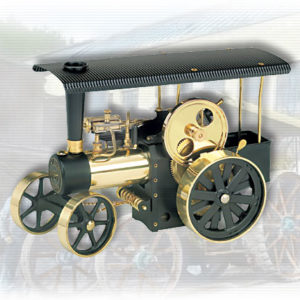 Wilesco D406 Steam Traction Engine Black-Brass